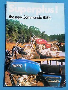 Norton commando 850 750 JPS Brochure Poster Unused New Old Stock
