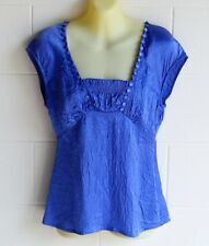 """DAVID LAWRENCE""  EC, SIZE 8 WISTERIA BLUE TOP, SIDE ZIP"