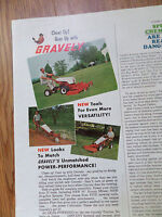 1963 Lawn Tractor Lawnmower Ad  Studebaker New Gravely Totary Mower Plow