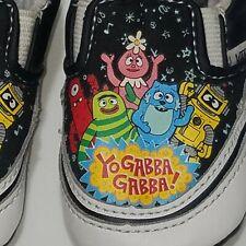 2018 Spring Vans Infant Yo Gabba Gabba Slip-On Black/White Infant Shoes Size US3
