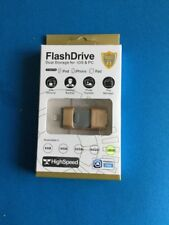 Flash Drive Dual Storage Memory Stick For IOS,Android,PC & Mac 128gb Gold/others