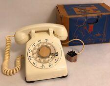 Western Bell Rotary Dial Phone 500 C D Telephone Original Box Plug Cord Vtg 60's