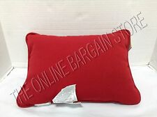 Pottery Barn Solid Outdoor chesapeake Throw sofa Pillow Lumbar Cherry Red 12x16
