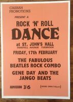 THE BEATLES ROCK N ROLL DANCE CONCERT POSTER / A3 / THICK CARD / MINT(New)