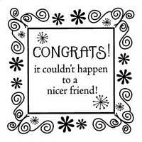CONGRATS To Friend - INKADINKADO Mini Rubber Stamp Scrapbook Stamping SALE