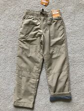 New Gymboree Boys gymster tan jersey lined pants Size 6