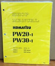 Komatsu Service PW20-1 PW30-1 Excavator Shop Manual NEW REPAIR