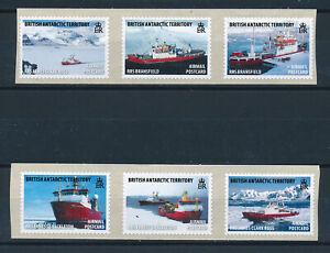 BRITISH ANTARCTIC TERRITORY 2011 RESEARCH SHIPS SELF-ADHESIVES SG545/550 MNH