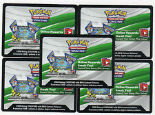 Pokemon Card SUN AND MOON GUARDIANS RISING x36 ONLINE BOOSTER CODES