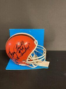 "Greg Pruitt Autographed Cleveland Browns Micro Helmet #35 ""Hello-Goodbye"""