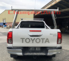 Polished Silver Aluminium Ladder Rack fit Toyota Hilux SR5 2015-2018 TUB