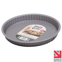 Baker & Salt® Loose Base Quiche/Flan Tart Tin 25cm - Non-Stick & Dishwasher Safe