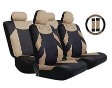 Car Seat Cover Sports Set Beige