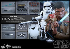 Hot Toys Star Wars FINN & RIOT CONTROL STORMTROOPER Figure Set 1/6 Scale MMS346