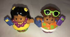 Fisher Price Little People Hawaiian Vacation With Cellphones, EUC