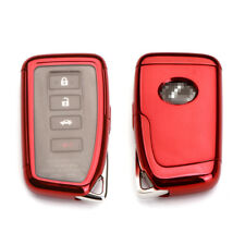 TPU Full sealed Cover Red Key Fob Shell Case for Lexus IS GS RX ES NX LS RC LX