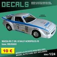 DECALS repro Mazda Rx-7 Rally Acropolis #9 Bburago Burago 1/24 1 24 decal