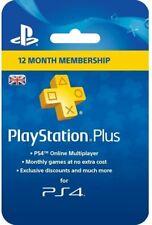 Sony Playstation PSN Plus 12 Month (365 days) UK Membership Card