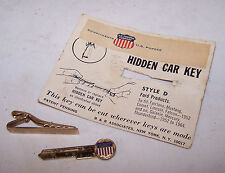 Old US POWDER COMPANY Tie Clip w Hidden FORD Key Falcon Mustang Fairlane Comet