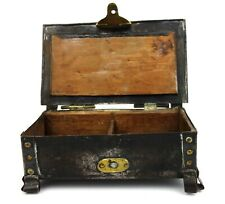 Antique Arts & Crafts Cigarette Box Four Footed