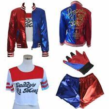 @4Girls Costume Set Suicide Squad Harley Quinn Kids Cosplay Fancy Dress 4PCS/Set