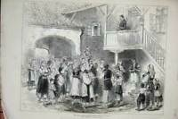 Old Antique Print 1876 War Bosnian Women Relief Usicza House Street Scene 19th