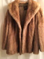 Real MINK Shiny FEMALE Autumn Haze SHAWL COLLAR Bell Sleeves FUR Coat JACKET M L