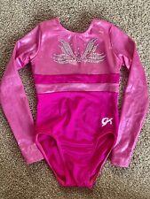 GK Girls medium Gymnastics leotard/long Sleeve Pink