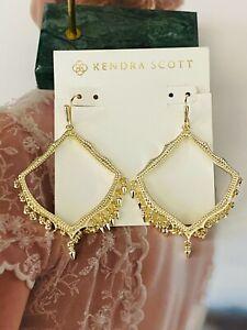 Kendra Scott Sophee Drop Golden Earrings & Free Shipping