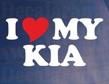 Me love/heart mi Kia Novedad car/window/bumper Vinilo calcomanía / etiqueta adhesiva