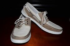 Unlisted Kenneth Col Boat Men US 10.5 tan and brown Boat Shoes free shipping.