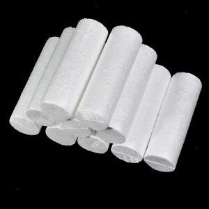 10pcs Cylinder Shape Polystyrene Styrofoam Foam Material for DIY 14x4.5cm