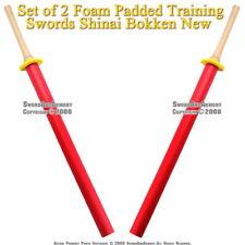 Set of 2 Foam Padded Training Swords Shinai Bokken New