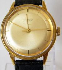 "VINTAGE BEAUTIFUL GERMAN""JUNGHANS""GOLD PLATED MEN'S WATCH,CAL.87 SERVICED # 251"