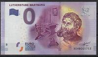 Null € 0-Euro-Schein Souvenir Souvenirschein Lutherstube Wartburg 2016-2 Banknot