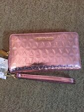 NWT Michael Kors Pink Leather wristlet