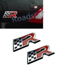 FLAG R EMBLEM BADGE RACING STICKER COLLECTIVE SPECIAL EDITION for car body alloy
