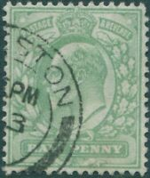 Great Britain 1902 SG217 ½d pale yellowish-green KEVII FU