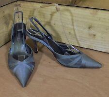 Kurt Geiger Party/Wedding/Occasion Slim Heeled Slingback Shoes Silver 5UK 38EU