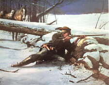 """Too Close to Skidaddle"" by Dale Gallon Civil War Litho Signed and Numbered"