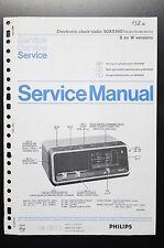 PHILIPS ELETTRONICO RADIO SVEGLIA 90AS160 Originale Manuale di Servizio/
