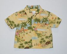 "Gymboree ""Little Keiki"" Hula Palm Tree Tropical Button Front Camp Top, 18-24 mos"