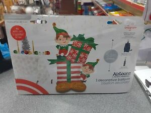 """Anagram AirLoonz XL Foil Party Balloon 134cm 53"""" AIR ONLY ELVES & GIFTS Greeter"""