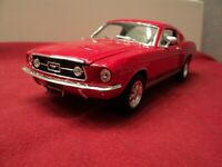 Welly 1967 Ford Mustang GT 1/24 scale new no box red exterior