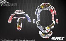 Leatt Brace GRAFICA ADESIVI Leatt ADVENTURE GPX Club Decalcomanie CRF sulfametazolo kit personalizzato