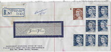 1970 WAHROONGA SOUTH NSW Registered commercial cover QEII strip Insurance perfin