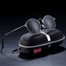 Aluminum Vintage Sunglasses for Men Round Retro Accessories Anti-Reflective