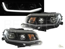 Black Housing Plank Style LED Bar Projector Headlights For 16-18 Chevy Camaro