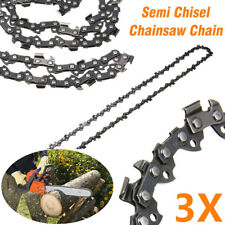 "3X CHAINSAW CHAIN SEMI CHISEL 16"" 0.325"" 0.063"" 62 DL STIHL MS 210 230 250 251"
