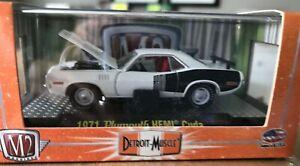 Castline M2 Machines Detroit Muscle 1971 Plymouth Hemi Cuda #32600 1:64 - NIB